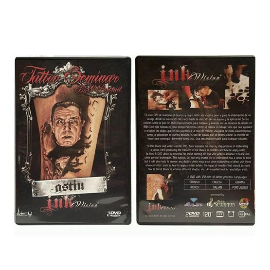 DVD Seminario Curso tatuaje Blanco y negro Retrato ASTIN