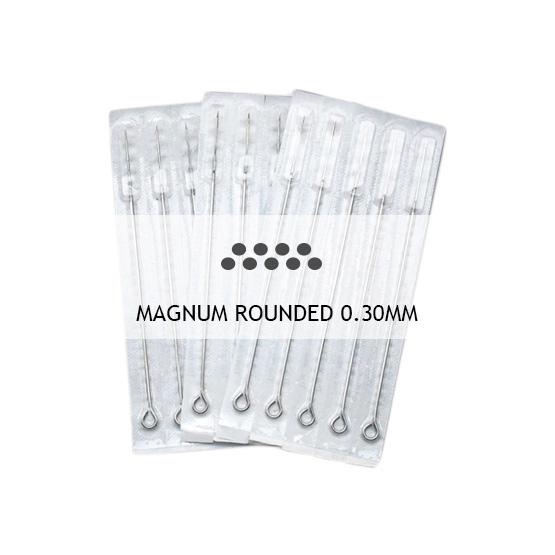 Agujas soldadas y esterilizadas Magnum Rounded 0.30