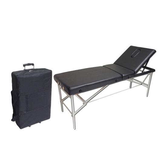 camilla plegable con maleta de transporte
