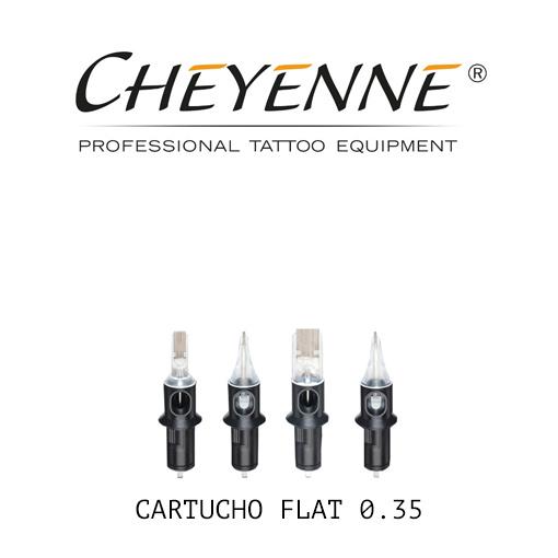 cartuchos cheyenne flat 035