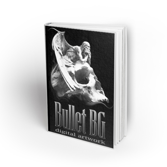 libro tattoo bullet bg digital artwork